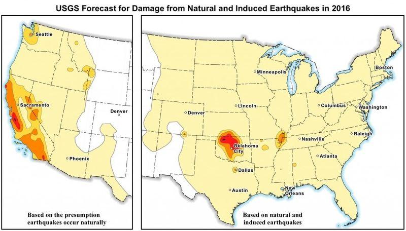 earthquake map manmade